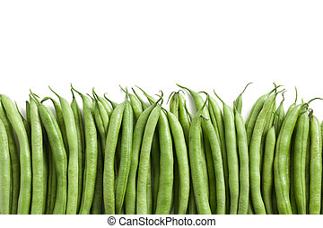 bean pods background - the green bean pods background
