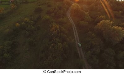 Car Goes in a Field off the Road