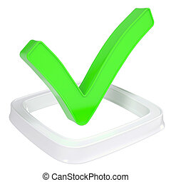 The green check mark in the checkbox
