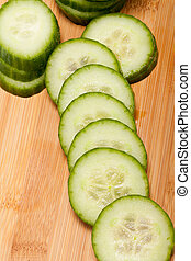 The green cucumber isolated on white background