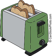 The green electric toaster