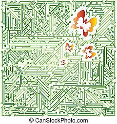 green electronic scheme