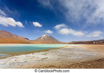 The green Laguna Verde, Bolivia