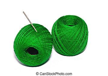 the green yarn