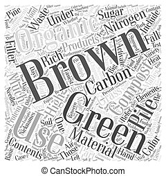 The Greens and Browns of Composting Word Cloud Concept