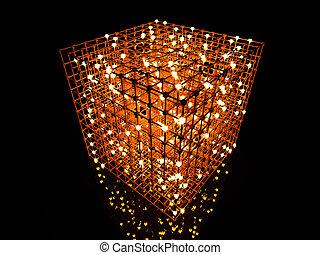 The Grid - 3D rendered Illustration. A 3 dimensional grid.