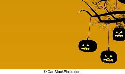 Halloween - The grim scene on Halloween.