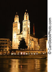 The Grossmunster Cathedral in Zurich