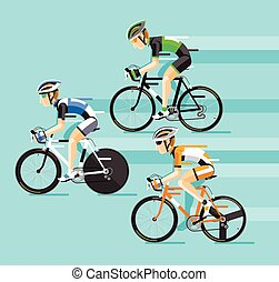 The Group of cyclists man in road bicycle racing.