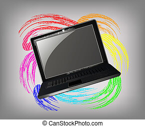 The grunge laptop