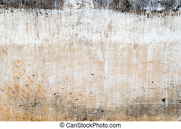 The grunge wall background.