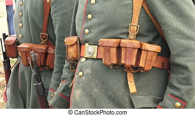 The guard of German soldiers. The first world war. WWI....