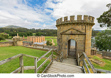 Port Arthur - The Guard Tower in Port Arthur Historic Site,...