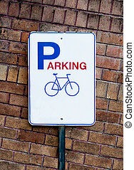 The Guidepost of bicycle parking