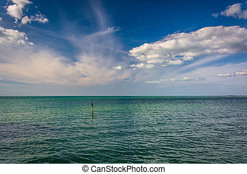 The Gulf of Mexico in Clearwater Beach, Florida.