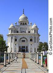 The Gurdwara Rakab Ganj Sahib in Delhi, India