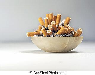the habit of smoking