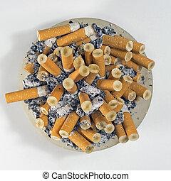 the habit of smoking cigarettes