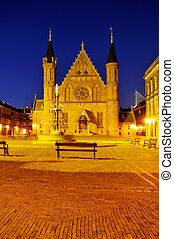 The Hague, Ridderzaal Gothic castle - This photograph...