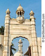 The Haji Ali Dargah, an island mausoleum and pilgrimage site...