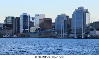 Halifax, Nova Scotia city center on a beautiful day - The...