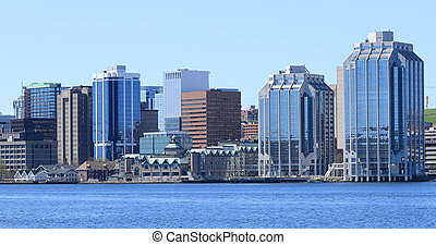 Halifax, Nova Scotia city center on a beautiful day