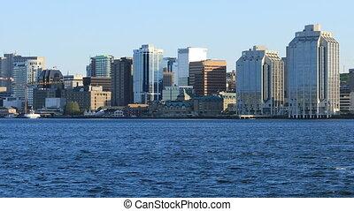 Halifax, Nova Scotia skyline on a clear day - The Halifax,...