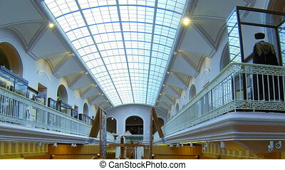 The hall of the Ethnography Museum in St. Petersburg