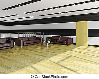 The hall with sofas