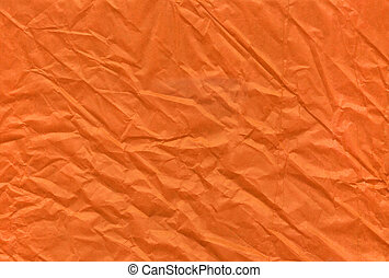 Halloween orange crumpled and grungy textured blank paper background