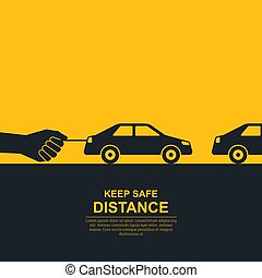 The hand constraining car speed symbolizes increase in ...