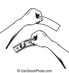 hand holds a hundred dollar