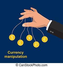 The hand manipulating