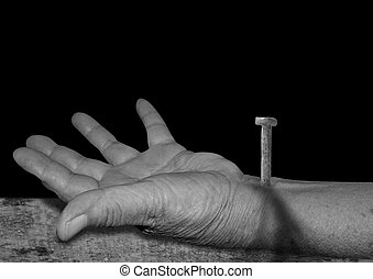 The hand of Jesus