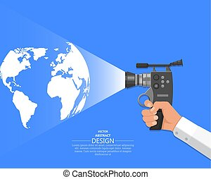 The hand of the video operator