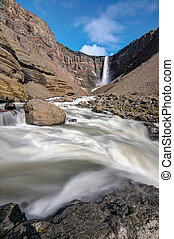 The Hangifoss waterfall in Iceland