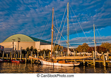 The harbor in Annapolis, Maryland.