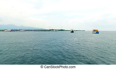 The harbor on Java island in Indonesia Asia