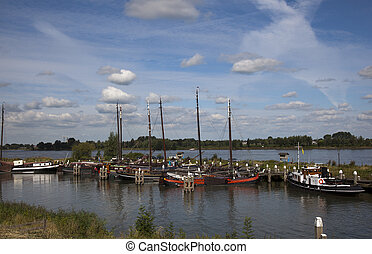 the harbour of woudrinchem the netherlands