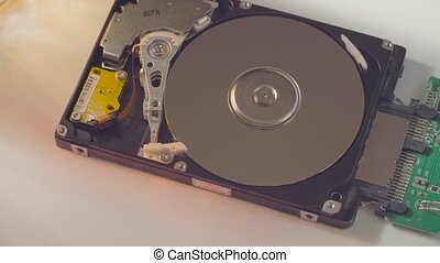 The hard disk drive - Macro shooting of the hard disk drive
