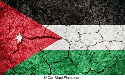 The Hashemite Kingdom of Jordan flag