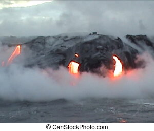 the Hawaii Volcano - Sea view of Kilauea Volcano in Big...