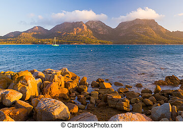 The Hazards from Coles Bay, Freycinet National Park,...