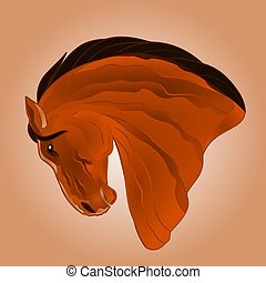 The head of light brown horse