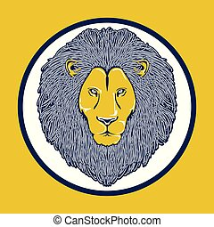 The head of lion color logo