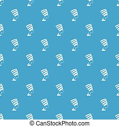 The head of the Egyptian queen pattern seamless blue
