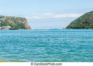The Heads in the Knysna lagoon. - KNYSNA, SOUTH AFRICA -...
