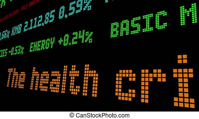 The health crisis has become an economic one stock ticker