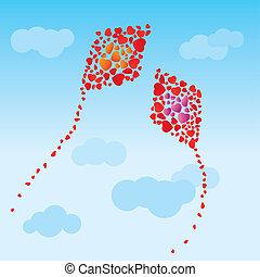 The hearts kites