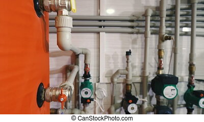 The heating system and hot water in a private house